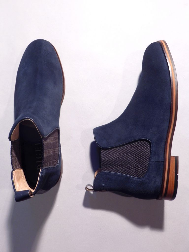 Bottines nubuck marine