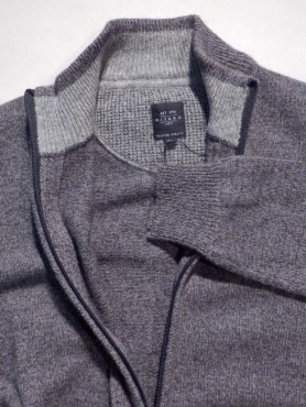 cardigan gris anthracite chiné - extra long