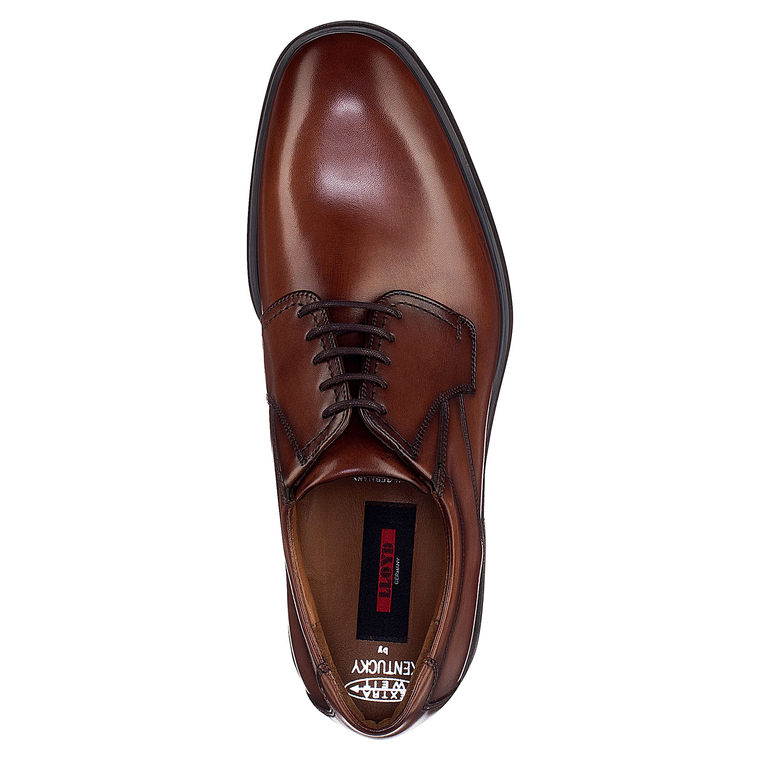 Chaussures KENTUCKY Cognac - pieds extra larges