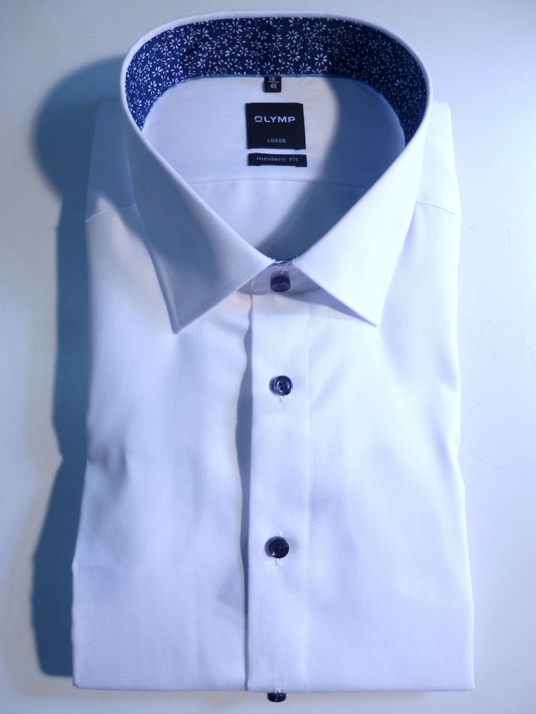 Chemise blanche à opposition