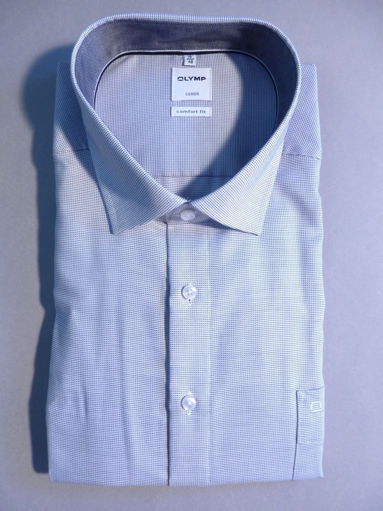 Chemise city blanche pinpoint graphite