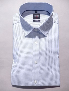 Chemise city blanche pinpoint océan