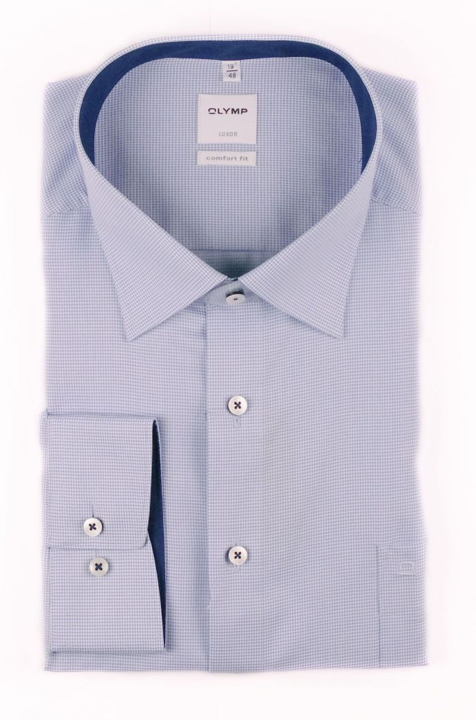 Chemise city pinpoint bleu royal