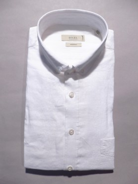 Chemise modern fit blanche - lin & coton
