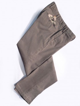 chino camel lavé coupe bodyfit