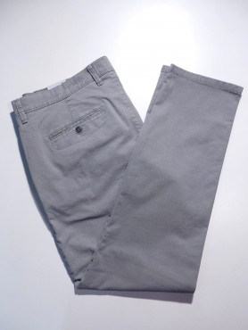 Chino gris clair motif géométrique - stretch - regular
