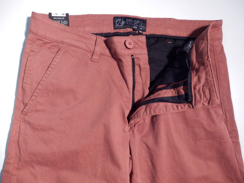 "chino orange brulée - Xtra-long 38"" - coupe X-tra slim"