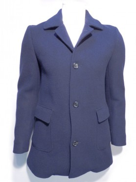 manteau marine double face