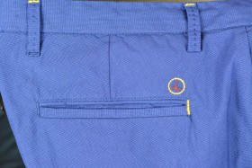 pantalon chino puce royal