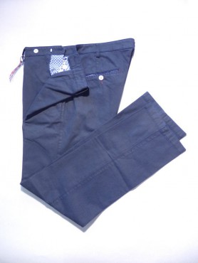 Pantalon marine à points