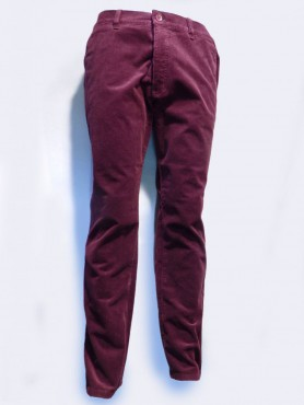 Pantalon velours bordeaux