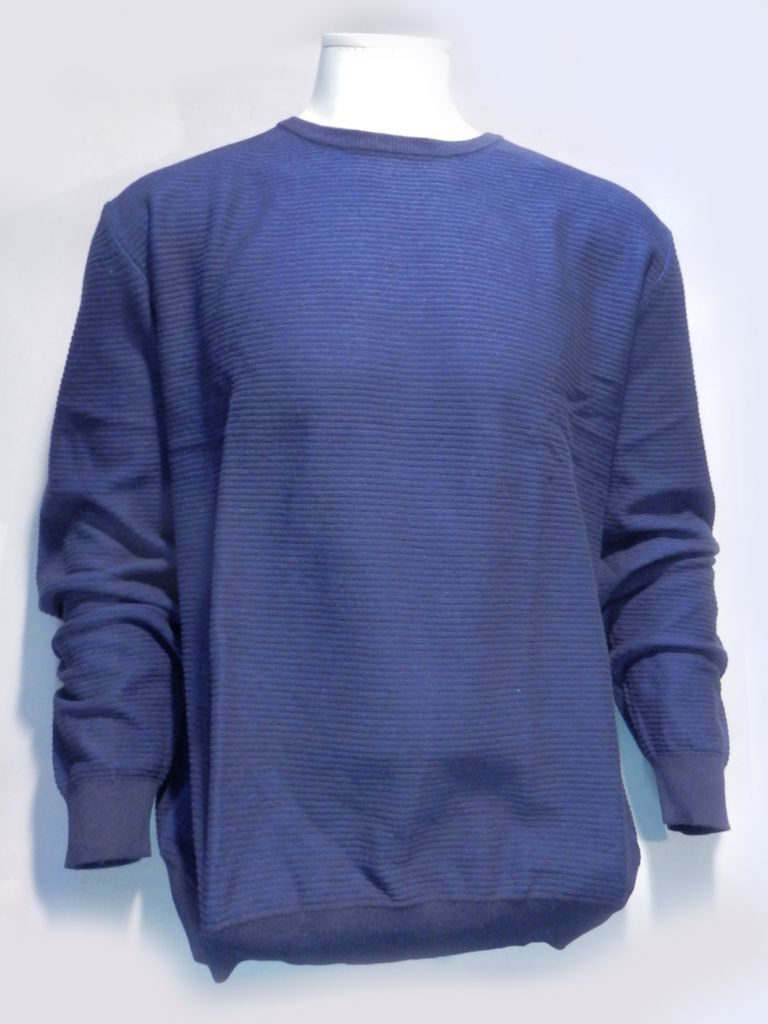 pull col rond bleu nuit