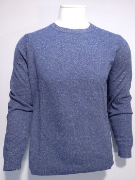 pull ras de cou chiné denim