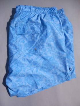 Short de bain lagon à motif tortues