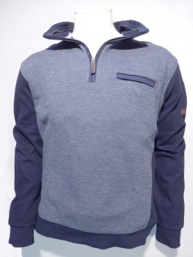 sweat chevrons gris+marine
