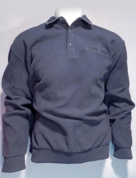 Sweat col polo anthracite
