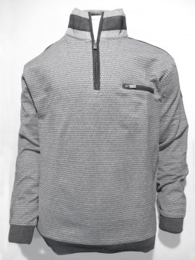 sweat gris-noir